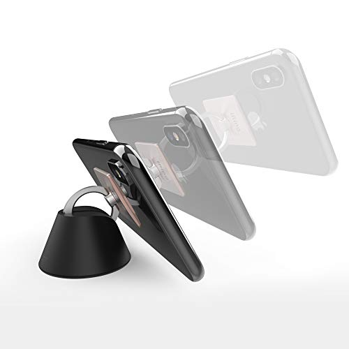 AAUXX The Original iRing Dock Car Mount Holder. Compatible with iRing Products. Multipurpose for Desk and Car Dashboard Ring Holder Stand Accessory for iPhone, Samsung Smartphones and Tablets. ()