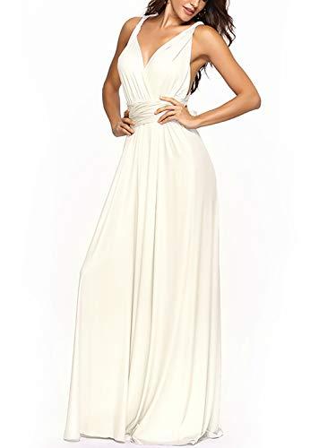 PERSUN Women's Convertible Multi Way Wrap Maxi Dress Long Party Grecian Dresses]()