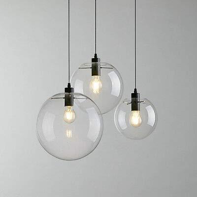 FidgetGear E27 Vintage LED Pendant Light Ceiling Lamp Transparent Glass Chandelier by FidgetGear (Image #2)