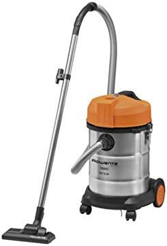 Rowenta RU5053EH Drum vacuum cleaner 30L 1500W Naranja, Acero inoxidable aspirador - Aspiradora (Drum vacuum, Seca y húmeda, Alfombra, Suelo duro, Naranja, Acero inoxidable, Acero inoxidable, HEPA): Amazon.es: Hogar