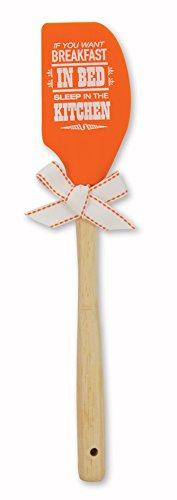 - Brownlow Gifts Silicone Spatula with Wooden Handle, Breakfast In Bed