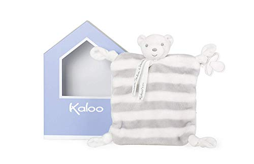 Kaloo Bebe Pastel Doudou Bear - Grey & Cream Plush for sale  Delivered anywhere in USA