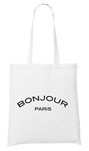 Bonjour Paris Sac Paris Blanc Bonjour RTXazFa1q