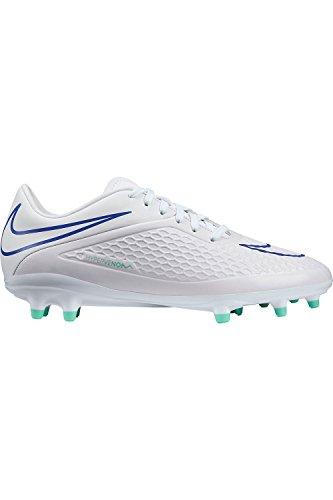 Nike Wmns Hypervenom Phelon Fg Kvinnenes Fotball Hvit / Medium Mint / Hyper Kobolt Oss Sz. 8