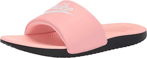 Nike Kids Girl's Kawa Slide (Little Kid/Big Kid) Bleached Coral/White/Black 6 M US Big Kid