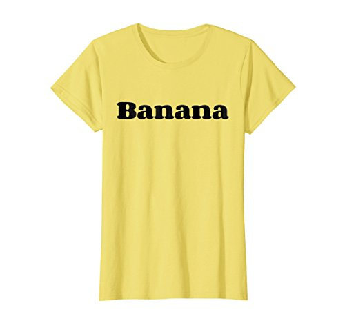 Womens Banana Costume Shirt - Cute Halloween Costume Fruit Gift Tee Large (Cute Banana Costumes)