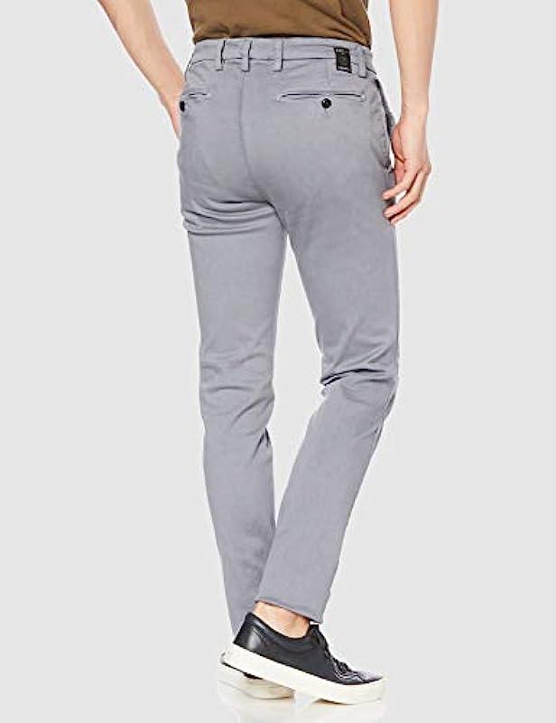 REPLAY Zeumar, męskie dżinsy Slim Chino, Regular Waist, stylowe spodnie ze stretchu Hyperflex dla mężczyzn, rozmiary: 27 - 40: Odzież