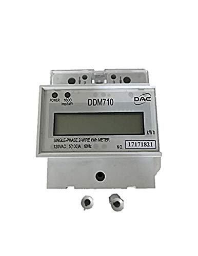 DAE DDM710 120V kWh Meter, 100 Amp, Internal CT, 60 Hz, Hot Wire Pass Through (3 Phase 3 Wire Energy Meter Connection)