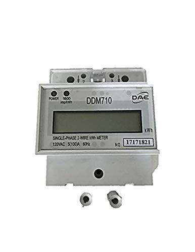 (DAE DDM710 120V kWh Meter, 100 Amp, Internal CT, 60 Hz, Hot Wire Pass Through)
