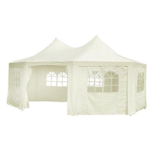 vidaXL Marquee Party Tent 20'x15'x12' Garden Gazebo Canopy Wedding Octagonal (Octagonal Garden Gazebo)