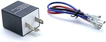 12V 3-Pin Turn Signal Flasher Relay For Car Motorcycle ATV Lamp Led Light Bulb
