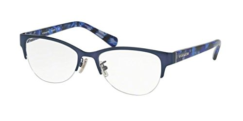 Coach Women's HC5078 Eyeglasses Satin Navy/Blue Black Mosaic - Frame Eyeglass Prices
