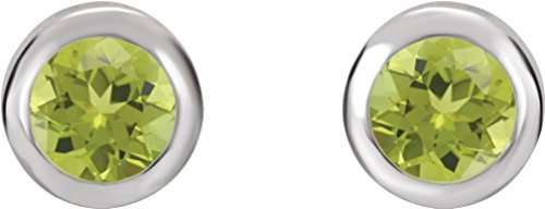 August Birthstone Stud Earrings, Rhodium-Plated 14k White Gold by The Men's Jewelry Store (for HER)