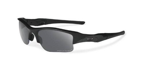 Oakley US Standard Issue Polarized Flak Jacket XLJ 11-435 Sunglasses Matte Black Frame Grey Polarized Lenses