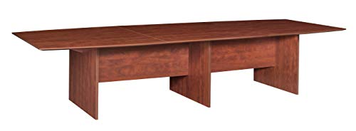 Regency A-SCTBS14452SG Sandia Boat Shape Modular Conference Table Featuring Lockdowel Assembly, 144