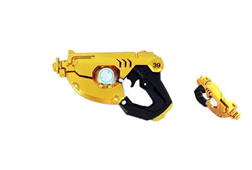 Arsimus 9.5 inch Video Game Foam Hero Time Traveler Pulse Pistols (2 pcs) (Black/Gold)