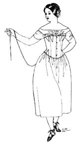 1880 Costume Patterns - 1840's - 1880's Corset Pattern