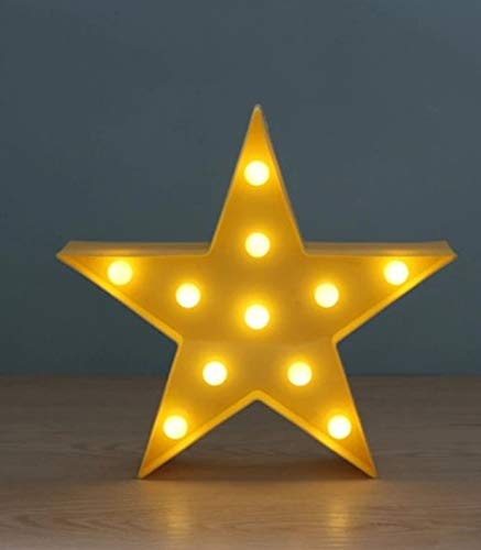 1 Set Star Shape LED Night Lights Christmas Light Baby Lamp Imposing Fashionable Unicorn Bulbs Wall Room Lamps Indoor Outdoor Holiday Decorations, Type-04