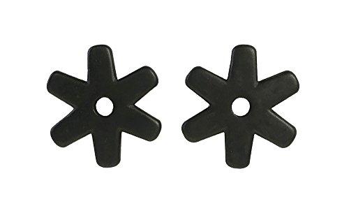 Western Spur Black Steel Rowels 1 1/4 Inch Sold In Pair 6 (Point Spur Rowels)