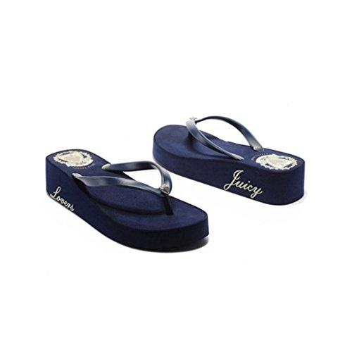 Suola Libero Donna Tempo The Of Pantofole Dimensioni Spessa Blue colore Sandals 256mm Blue Con Fashion Versione 38 Summer vpqwWxH8R