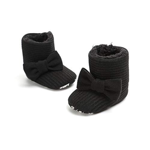 Para Infantes Niñas 6 Meses Invierno 12 18 0 Botitas Zapatos botas 6 calzado De 12 Bebé Negro Auxma wPSntfxYI