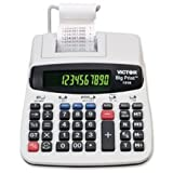 12/10-Digit Calculator, Thermal Printing, 7-3/4''''x10''''x2-1/2, Sold as 1 Each