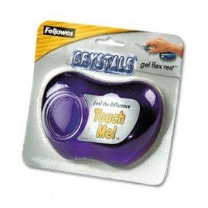 Fellowes Purple Gel Crystal Flex Rest Transparent Mini Wrist Rest (Fellowes Flex Arm)