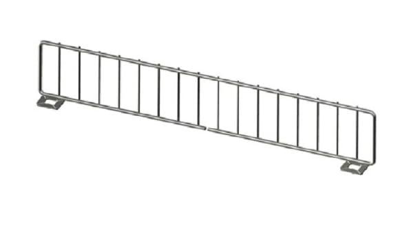 Gondola Shelf Divider Fence Chrome Lozier Madix USA Made 13L x 6H Lot of 50 NEW13