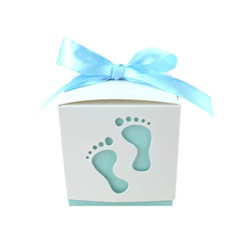 Ishine 50pcs Paper Candy Sweet Gift Boxes Christening Baby Shower