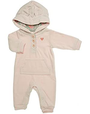 Baby Girls' Fleece Eared Romper (Baby) - Ivory