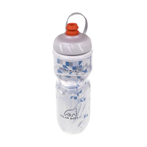 Polar Bottle Zipstream Breakaway - 20oz Insulated Water Bottle (Blue) 20 Ounce Bike Bottle