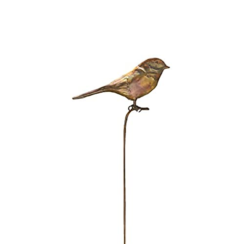 Genial Ancient Graffiti Flamed Bird Garden Stake, 6.5 By 1 By 29 Inch