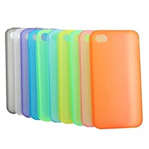 Transparent Silica Gel Protective Soft Case For iPhone 4 4S --- Color:Light Green