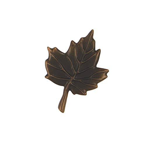 Maple Leaf Doorbell Ringer - Oiled Bronze