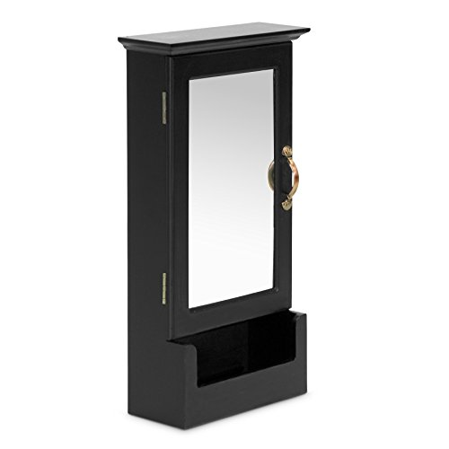 Baxton Studio Wessex Key Cabinet, Black