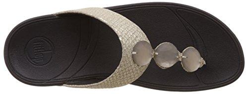 Fitflop Petra (Leather) - Sandalias de cuero mujer Plata