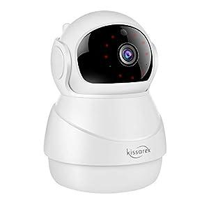 Flashandfocus.com 31AIEcJg26L._SS300_ Kissarex Wireless Wifi Pet Camera: Indoor 1080p HD Night Vision Monitoring Motion Dog Home Baby Pan Tilt Zoom Audio…