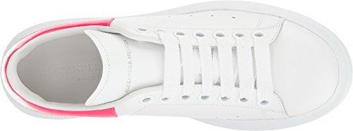 Alexander McQueen Women's Oversized Sneaker White/Bright Pink 38.5 B EU