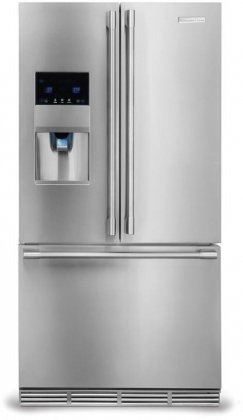 Virtuoso 22.6 cu.ft. Capacity Counter-Depth French Door Refrigerator External Ice and Water Dispenser Custom-Design Organization Group Energy Star: Stainless