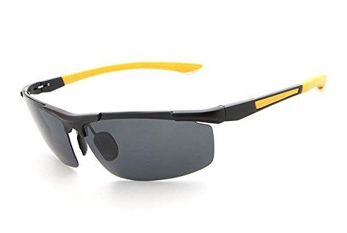 gray Gafas Sol de UV400 protección Ciclismo Sol Gafas para Hombres clásicas Color Blue Vuelo Black de de de de Gafas polarizadas MXNET Yellow 6BqwFXF