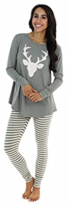 Sleepyheads Women's Sleepwear Longsleeve & Legging Pajama PJ Set