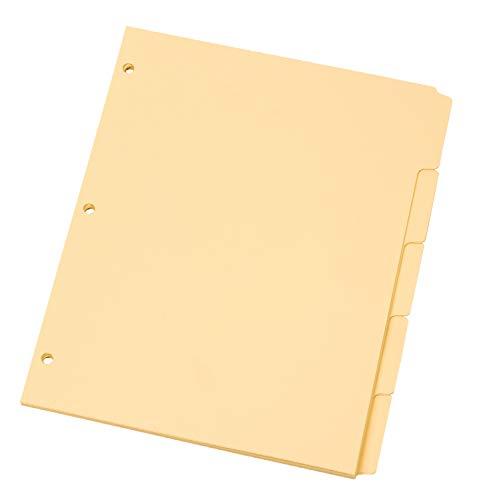 Oxford Manila Tab Dividers, Blank, Write On - 5 Tab (M1158) ()
