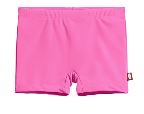 (City Threads Little Girls' Swimming Suit Bottom Boy Short, Medium Pink/Pink, 5)