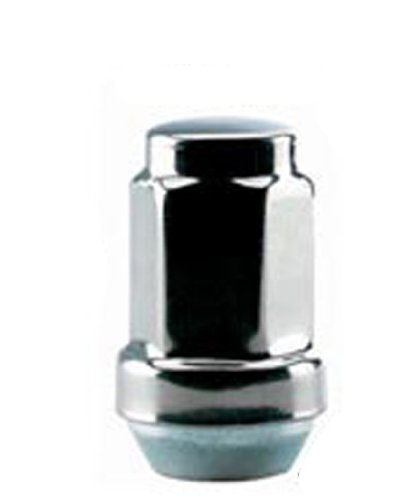 White Knight 1907ST-4 Stainless Steel Capped Acorn Lug Nut - 4 (Summit Stainless Steel Locks)