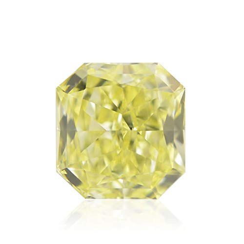 0.61Cts Fancy Intense Yellow Loose Diamond Natural Color Radiant Cut GIA Cert