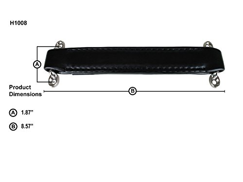 Penn-Elcom H1008 Brown Leather-Look Strap Handle 8.57 Inch Long