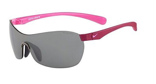 Nike Grey with Silver Flash Lens Excellerate Sunglasses, Bright Magenta/Red Violet by NIKE (Image #1)