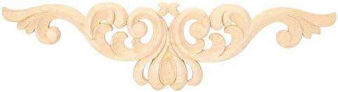 ウッドアップリケ、ヨーロピアンスタイルの木彫りアップリケ安全で耐久性のある長尺デカール家の家具の装飾 ゴム、壁、キャビネット、窓
