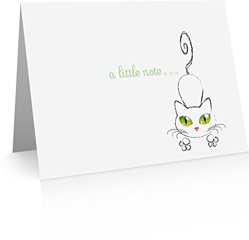 Cat Foldover Note Cards (24 Foldover Cards and Envelopes)