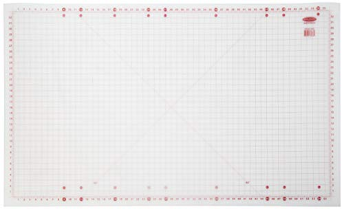 "Sullivans 36""x59"" Cutting Mat for Home Hobby Table, White"